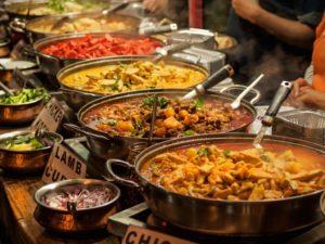 Oriental food catering