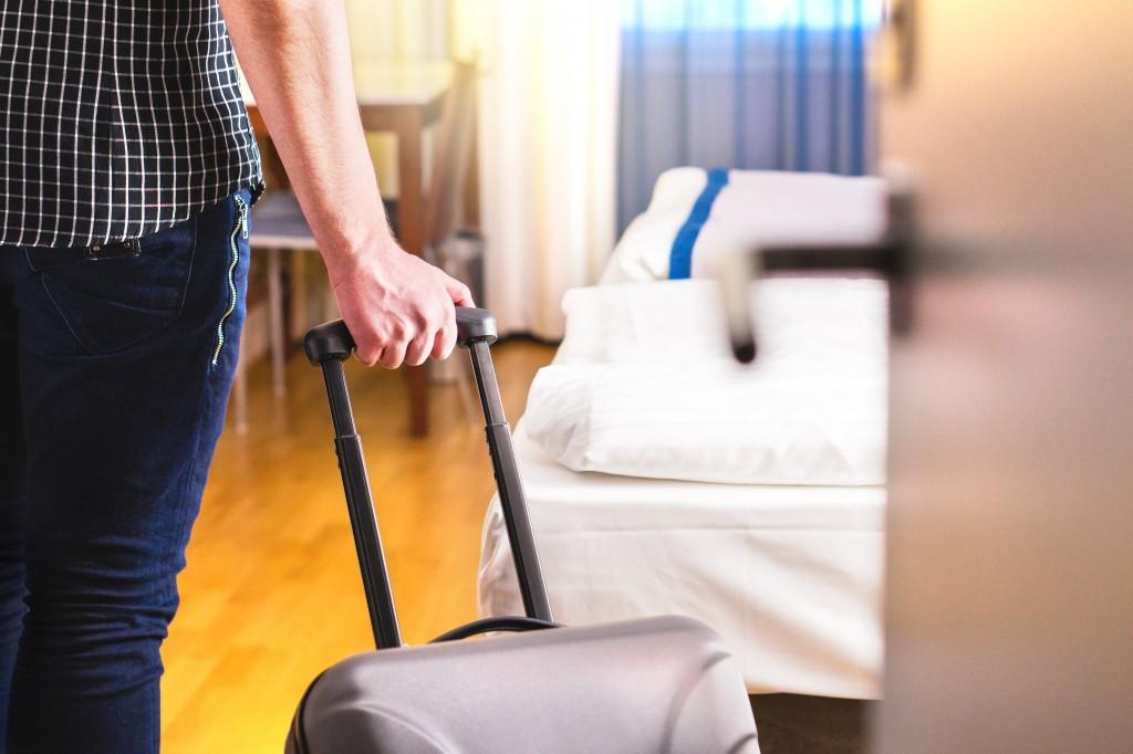 traveler in a hotel