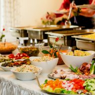 Catering table setting